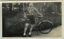 PHOTO ANCIENNE - VINTAGE SNAPSHOT - SCOUT SCOUTISME VÉLO BICYCLETTE - BIKE