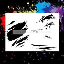 Shreads And Rips 02 Airbrush Stencil,Template