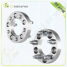 """2X 1"""" 25mm Thick 5x4.5 or 5x114.3 Wheel Spacers 12x1.5 For 2004-2006 Lexus ES330"""