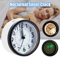 Luminous Alarm Clocks Nocturnal Silent Clock With Nightlight Snooze For Bedside