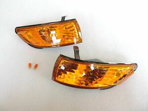 JDM Spec Crystal AMBER Corner Signal Light Pair For 1988-1993 Nissan S13 Silvia