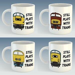 Still Plays with Trains Class 20/26/37/40/42/HST/45/47/50/52/55 Mug Gift