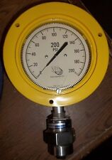 3D 0-200PSI PRESSURE GAUGE GAGE 25504-25C74 GAD TW1.5A.0016 316L FITTING (GG2)