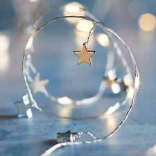 Battery LED Charm Star Micro Fairy Lights Rose Gold Silver Timer by Lights4fun