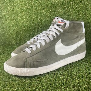 Nike Blazer Mid Suede Vintage Men's Trainers Olive Green - Size UK 9.5 EUR 44.5