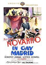 In Gay Madrid (Ramon Novarro) Region Free DVD - Sealed