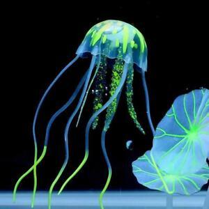 Floating Jelly Fish Glowing Effect Aquarium Tank Ornament Decor Fake #