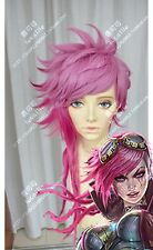 The Piltover Enforcer Vi LOL League of Legends Cosplay Wig Layered Party wigs