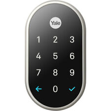 Google Nest x Yale Lock Smart Door Deadbolt with Nest Connect - Satin Nickel