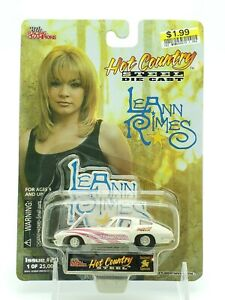 Racing Champions Hot Country Steel Diecast LeAnn Rimes Corvette White/Pink New