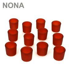 12er Set NONA 6 cm Teelichtglas Glas Farbe Rot Kerzenglas Windlicht Kerzengläser