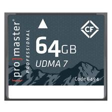 Promaster Compact Flash 64GB RUGGED Memory Card 1066X UDMA7 #6494