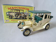 1969 Matchbox Models of Yesteryear Cream 1910 Benz Limousine Car Y-3 England MIB