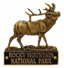 Rocky Mountain National Park Elk CO walking Hiking Medallion NEW Goes On Staff