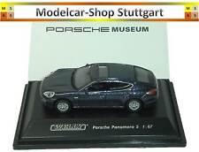 Porsche Panamera S Blu - EDIZIONE DEL MUSEO - Welly 1:87 map02390312 - NUOVO