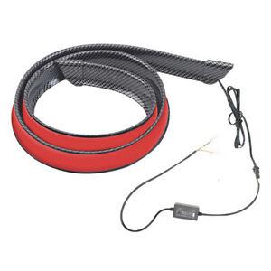120cm LED Car Rear Trunk Spoiler Lip Tail Wing Light 12V Carbon Fiber Color 1pcs
