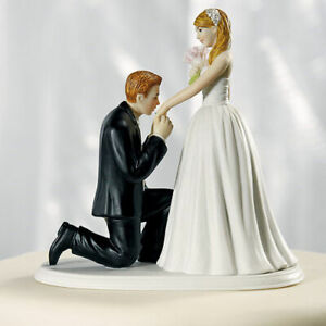 Cinderella Moment Romantic Wedding Cake Topper WITH Custom Hair Colors