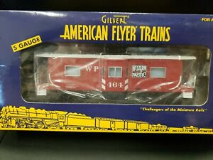 New American Flyer 6-48754 S Scale Western Pacific Bay Window Lighted Caboose.