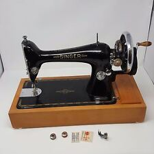 Antique Singer 66k Vintage Sewing Machine Hand Crank Case Box Extras 1930