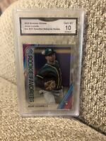 2020 Bowman Chrome Jesus Luzardo Rookie Refractor Roy Graded 10