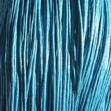10M de FIL de Coton Ciré 1mm BLEU AZUR CLAIR sautoir bracelet colliers *C130