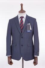 Men's Suit Scott By The Label Blue Wool Tailored Fit 48R W40 L31