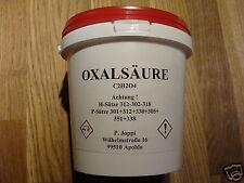 OXALSÄURE 1 kg Pulver Kleesalz Kleesäure Bleichmittel 99,62 %ig