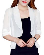 Women's Bolero Short Sleeve Summer Chiffon Cardigans Short Tops Fashion Outwears