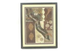Linda Jacobson 2011 Textile Collage Peaceful Journey Framed and Matted