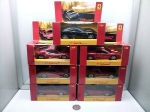 Hot Wheels Shell 1:38 Scale - Ferrari - Red - Plastic - Model Car Collection x7