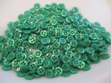 LOT OF 100 GREEN COLORFUL 3//4 INCH 4 HOLE BUTTONS NEW