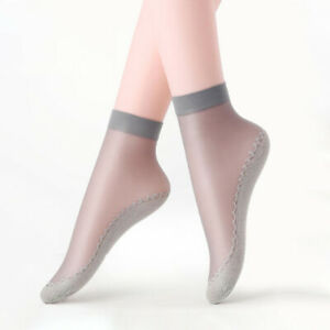 10Pairs Summer Women Lace Short Stocking Anti-Slip Breathable Cotton Bottom Sock