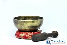 5 Inch-Tibetan Singing bowl handmade brass(7metal)Handmade Free cushion & mallet