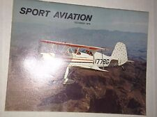 Sport Aviation Airplane Magazine Fond Du Lac October 1974 121816rh