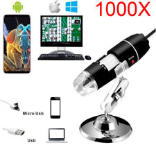 3in1 1000x Usb Digital Microscope 2mp Magnifier For Pc Android Cellphone Stand