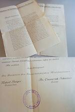 """2 Dokumente Konservatorium GRAZ 1931: Spendenaufruf """"Bausteinsammlung"""", Stempel"""