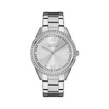 Caravelle Women's 43L178 Quartz Crystal Accents Silver-Tone Bracelet 36mm Watch