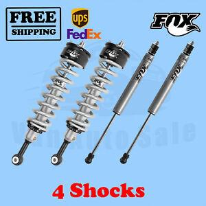 """Fox Shocks Kit 4 Front 0-2"""" & Rear 0-1.5"""" Lift for Toyota FJ Cruiser 07-09"""