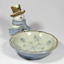 "St. Nicholas Square FOREST FRIENDS 6"" Figural Snowman Snack Bowl Candy Dish"