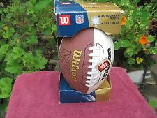 WILSON NFL FULL SIZE AUTOGRAPH FOOTBALL, NEW IN BOX, HOLDS AIR GREAT, NEW