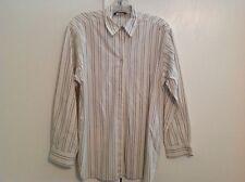 Harold's Ivory Black/Gray Striped Blouse Shirt Top 100% Cotton Sz 4 S Small