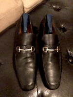 GUCCI Shoes 256345 SZ Italian 9.5 /US 11.5 Black Horsebit Loafers Shoes Slip On.
