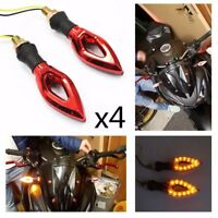 4x Red Motorcycle LED Turn Signal Indicator For Ducati Monster 796 900 1100