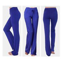 Ladies Yoga Pants Sports Gym Leggings Trousers Straight Leg Flare Keep Fit L082