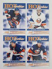 2011-12 Score HOT rookies New York Islanders lot of 4 NHL hockey cards
