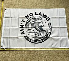 White Claw FREE SHIPPING Flag White No Law 3x5' Foot Banner Poster Brand New