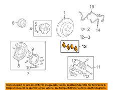 TOYOTA OEM 09-13 Matrix Brake-Rear Pads 0446602220