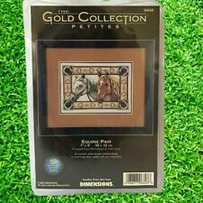 Dimensions Gold Collection Petites Equine Pair 6848 Counted Cross Stitch NEW !