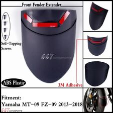 Black Motorcycle Front Fender Mudguard Extension For Yamaha MT-09 FZ-09 2013-18