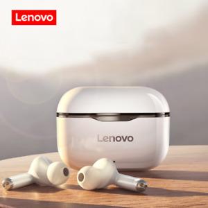 Lenovo Bluetooth 5.0 HIFI Bass Stereo Earbuds Nosie Reduction Headphone-White